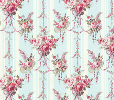 Wallpaper Chrystina Blue - 3pc - Wallpaper - Chrystina Blue - These miniature dollhouse  wallpapers are