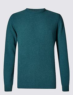 Pure Lambswool Textured Jumper | M&S