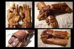 Leather Gauntlet Pattern | guanteletes de cuero leather gauntlets by el yohn artisan crafts ...
