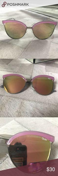 QUAY Star Dust Sunglasses QUAY Star Dust Rose gold mirrored lens sunglasses Quay Australia Accessories Sunglasses
