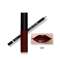 Tmalltide Waterproof Makeup Matte Liquid Lipstick Lip Gloss and Lip Liner Set Bundle of 2 Items Perfect Pairings Collection >>> Find out more about the great product at the image link.
