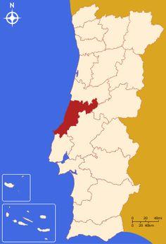 Localização do Distrito de Leiria em Portugal