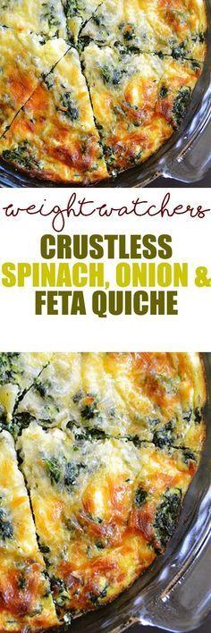 Weight Watcher's Crustless Spinach, Onion & Feta Quiche!!! - 22 Recipe