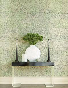 Feather Bloom wallpaper by Celerie Kemble for Schumacher - LOVE it