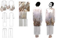 Fashion Sketchbook - fashion design drawings for slow fashion brief; fashion portfolio // Marika Fujita
