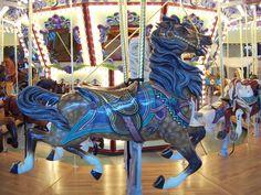 Gorgeous colors on this Salem Riverfront Carousel horse, Salem OR