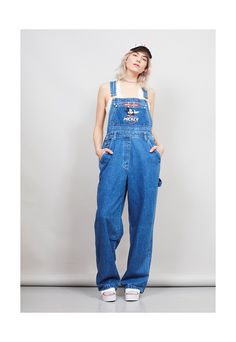 76d49128 Overalls Outfit, Denim Overalls, Denim Outfit, Baggy Dungarees, Overalls  Vintage, Mickey