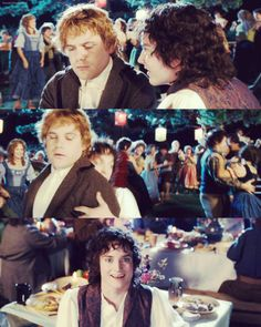 Sometimes I'm Sam and sometimes I'm Frodo. Fellowship Of The Ring, Lord Of The Rings, Merry And Pippin, Rings Film, Film Trilogies, Frodo Baggins, Elijah Wood, The Two Towers, Aragorn