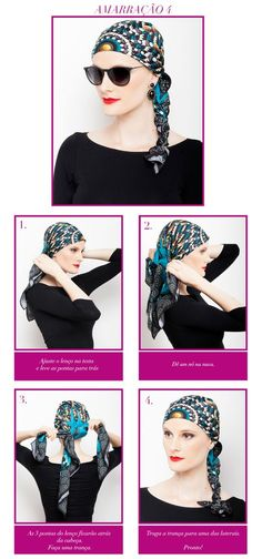 lenços na cabeça / head scarf / scarfs / amarração de lenço / DIY / passo a passo / stylish / sunglass / acessorize / chic women / cool tips / fashion tips / post / blog / blogger / fashion post / post design / post layout / scarfme