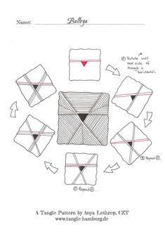 Balloya ~ a tangle pattern by Anya Lothrop, Certified Zentangle Teacher Tangle Doodle, Tangle Art, Zen Doodle, Doodle Art, Zentangle Drawings, Doodles Zentangles, Doodle Drawings, Doodle Patterns, Zentangle Patterns