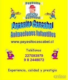 """Animaciones Infantiles  Show Animado Por El Inigualable y Divertido    """"Payas ..  http://santiago-city.evisos.cl/animaciones-infantiles-id-614834"""