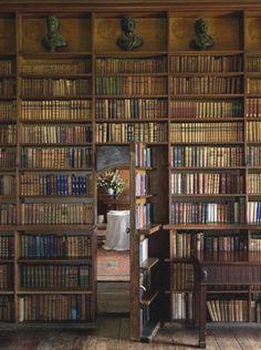 Library with hidden passage door dreamm home