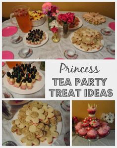 princess tea party treat ideas - cream cheese and strawberry jam sandwiches, meat/cheese skewers Princess Tea Party Food, Girls Tea Party, Tea Party Birthday, Birthday Ideas, Princess Birthday, 4th Birthday, Husband Birthday, Birthday Cakes, Tea Party Menu