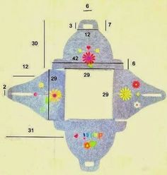 Listener porta torte in feltro+(Small). Big Shot, Diy Projects To Try, Sewing Projects, Sewing Caddy, Diy And Crafts, Arts And Crafts, Idee Diy, Ornaments Design, Box Design
