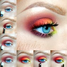 Colorful eyeshadow pictorial