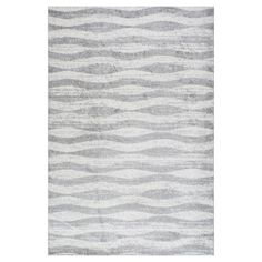 Sterling Gray Solid Loomed Area Rug - (4'x6') - nuLOOM, Blue Gray