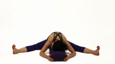Supported Wide-Angle Seated Forward Bend (Upavistha Konasana)