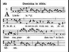 Dominica in Albis - Alleluia, In die (Gregorian chant) (+playlist) Easter Hymns, Catholic Hymns, Choirs, Glee Club, Singing, Spirituality, Cook, Music, Recipes