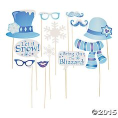 Winter Sparkle Big Photo Booth Props - 12 Pk Party Supplies Canada - Open A Party