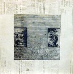 'Night Passage', aquatinta, mezotinta, 1995
