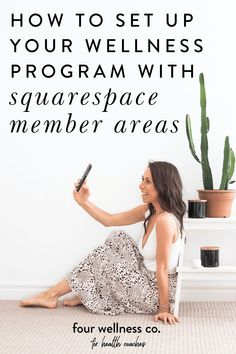 How to Add a Membership Program to Your Health Coaching Business, How to Set Up Your Wellness Program with Squarespace Member Areas // Four Wellness Co. // business tips and resources for health coaches and wellness entrepreneurs Digital Marketing Strategy, Marketing Ideas, Business Marketing, Business Tips, Online Business, Wellness Programs, Wellness Tips, Health And Wellness, Coach Website