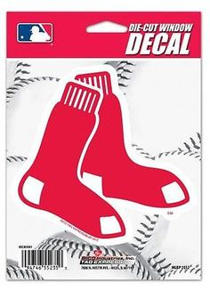 Brand New Boston Red Sox Die-Cut Decal! Size- 5 inches tall and 5 inches across Remove decal from the paper and it self-adheres to any surface. Looks great on car windows. Officially licensed product.