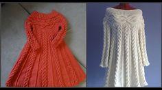 """Вязаное платье спицами, в стиле """"Шамони""""_ Часть первая. Схема.knit dress"""