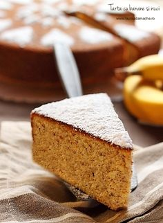 Cake with bananas and nuts No Cook Desserts, Easy Desserts, Cupcake Cakes, Cupcakes, Recipe Images, Cornbread, Fudge, Sweet Recipes, Mango