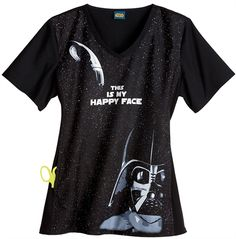 I would wear this every day  Cherokee Tooniforms Scrubs - everyone feels better when they smile! - See more at: http://www.lydiasuniforms.com/Brands/Cherokee-Scrubs/Cherokee-Tooniforms-Scrubs/Scrubs---Cherokee-Tooniforms-100-Cotton-Darth-Vader-Contrast-Knit-Scrub-Top.axd#sthash.sy4eLEHm.dpuf