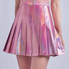 pink aesthetic, holographic skirt, and aesthetic skirt image Kawaii Fashion, Cute Fashion, Fashion Outfits, Womens Fashion, Stage Outfits, Skirt Outfits, Cute Outfits, Dress Skirt, Mode Emo