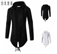 Free shipping of the new 2016 The only man 3D assassin long hooded cardigan cloak cloak coat