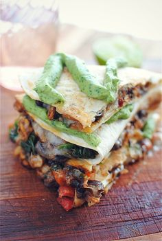 Tempeh and Black Bean Quesadillas | Bev Cooks