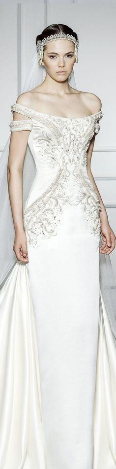 gorgeous Padme Amidala inspired wedding dress from Dilek Hanif