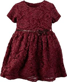 Carter's Baby Girl's Maroon Red Lace Sparkle Bow Special Occassion Dress (24 Months) Carter's http://www.amazon.com/dp/B017M1D4ES/ref=cm_sw_r_pi_dp_TN5Zwb1AJMP02
