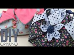 sewing tutorial for bag ♥ Sewing Tutorials, Sewing Crafts, Sewing Projects, Patchwork Quilt, Origami Bag, Gift Wraping, Fabric Ornaments, Pencil Bags, Little Bag
