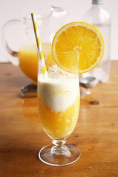 Sparkling Citrus Float with orange juice, pineapple juice and vanilla ice cream! #BHGsummer