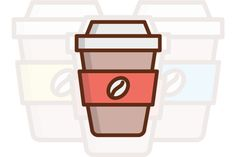 Coffee Cup Icon by Iconika on @creativemarket