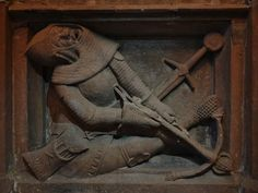 ca. 1360 - 'soldiers at the Holy Sepulchre', Église Saint-… | Flickr Saint Nicolas, Crossbow, France, Combat Boots, Two By Two, Lion Sculpture, Statue, Soldiers, Stockings