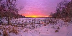 Wisconsin Winter Sunset