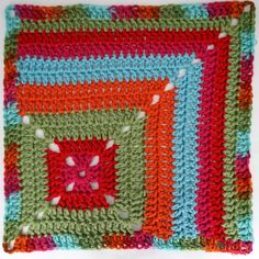 """Crochet Square Pattern Moogly CAL 2018 Block 18 is another """"corner"""" square! This square is a fast and relaxing make, and it's free courtesy of ACCROchet! Make all the 2018 squares with free crochet patterns and Red Heart Yarns With Love! Crochet Motif Patterns, Crochet Blocks, Granny Square Crochet Pattern, Crochet Chart, Crochet Squares, Crochet Designs, Granny Squares, Free Crochet, Crochet Granny"""