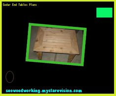 Cedar End Tables Plans 075325 - Woodworking Plans and Projects!