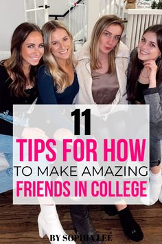 OMG these tips for how to make friends in college were so helpful for the first few weeks of my freshman year!! The advice was super helpful for me to push me out of my comfort zone! Pink Dorm Rooms, Boho Dorm Room, College Dorm Rooms, Make Friends In College, Make New Friends, Best Friends, Dorm Room Designs, Dorm Room Organization, New Environment