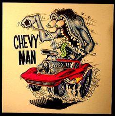 Rat Fink Cartoons   Rat Fink Chevy