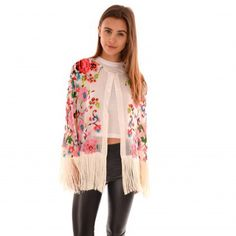 Buy Jayley Festival Silk Fringed Cape #festival #bankholiday #summer http://www.jayley.com/new-in/silk-devore-cape-157/