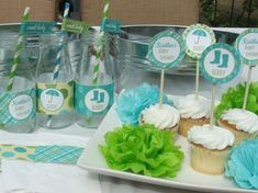 37 Best Blue And Green Baby Shower Images Boy Shower Baby Boy