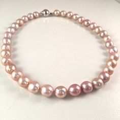 Pink Chinese Kasumi Natural Freshwater Pearl by JiaojiaosPearls