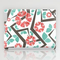 Blooming Trees Pattern IV iPad Case by VessDSign - $60.00
