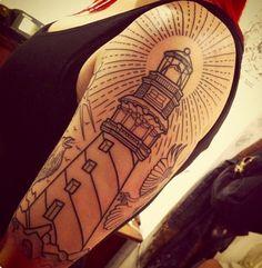 Lighthouse sleeve tattoo- Sarah B Bolen, Berlin