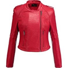 SUITEBLANCO Kurtka ze skóry ekologicznej red Leather Coats, Red Leather, Leather Jacket, Boho, Fashion, Studded Leather Jacket, Moda, Leather Jackets, Fashion Styles