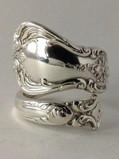 Cute Vintage Towle Sterling Silver Spoon Ring on Etsy